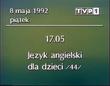 TVP1 for 08.05.1992 schedule