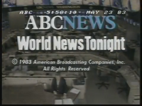ABC World News Tonight 23-05-1983 (close)