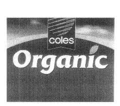 Coles organic olf