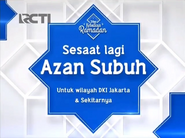 Shortly the subuh prayer on RCTI