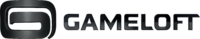 Gameloft Logo (2010; Black Version; Horizontal Version)