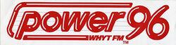 POWER 96 WHYT FM logo