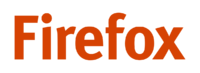 Firefox red wordmark