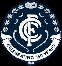 Carlton Football Club 150th anniversary logo
