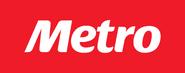 Metro logo 2013-presente con fondo rojo