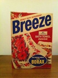 Breeze detergent with borax package