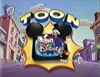 Toon Disney characters Scrooge McDuck and nephews