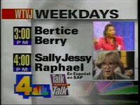 WTVJ Bertice Sally 1993 Promo