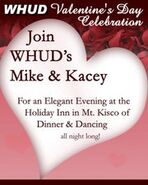 WHUD-FM's 100.7's Valentine's Day Celebration Promo For Saturday Night, February 12, 2011
