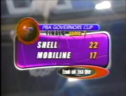 PBA on Vintage Sports scorebug 1998 Govs Cup semis and finals end of quarters