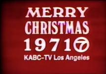 KABC Merry Christmas Slide 1971