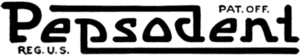 Pepsodent logo 1918