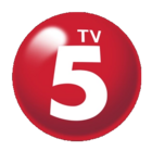 TV5 Logo 3D 2016 similar to the since 2010 version