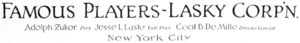 Famous Players-Lasky Corporation 1916