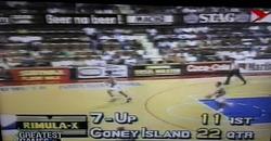 PBA on Vintage Sports scorebug 1993 AFC elims