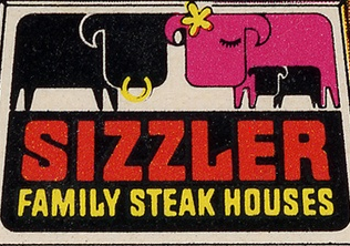 Sizzler 1st logo 27 January 1958-20 September 1981