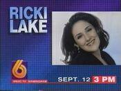 WBRC-TV Channel 6 Ricki Lake promo September 1994