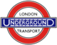 London Underground 1920s roundel with wording small