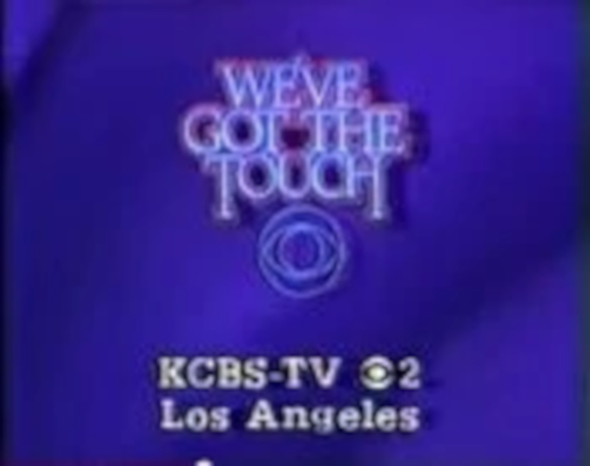 CBS-TV27s We27ve Got The Touch Video ID With KCBS-TV Los Angeles Byline From Early 1985