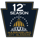 Harrisburg City Islanders logo (12th anniversary)