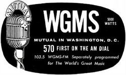 WGMS Washington 1956