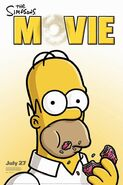 56-The-Simpsons-Movie ---Homer Simpson donut