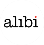 Alibi 2008-2015 logo inverted colors