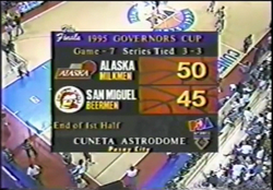 PBA on Vintage Sports scorebug 1995 end