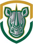 Rochester Rhinos logo (secondary, no stars)