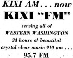 KIXI Seattle 1963