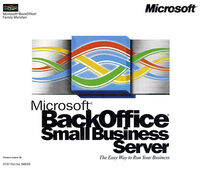 Microsoft BackOffice Small Business Server 4 0 CD case