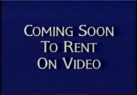 Walt Disney Studios Home Entertainment Buena Vista Coming Soon To Rent On Video Logo 1998