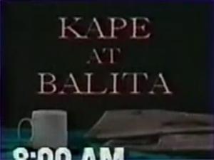 Kape at Balita title card (GMA Network, 1991–93)