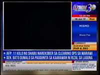 DZMM TeleRadyo used the datascreen graphics 06-19-2017