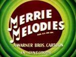 Cinecolor Merrie Melodies title card (1948)