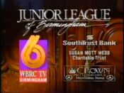 WBRC Channel 6 and The Junior Leauge of Birmingham Sponsors 1993