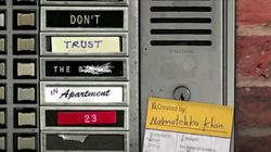 Don't Trust the B---- in Apartment 23 intertitle