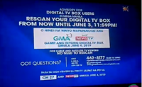 GMA News TV Channel 27 Advisory Test Card