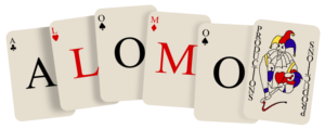 Alomo Productions 1992 logo