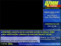DZMM TeleRadyo Datascreen Bug (2009)