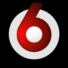 TV6 Logo ant juodo UUS 0
