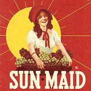 Sun-Maid brand logo 1956