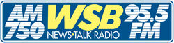 WSB AM and FM logo