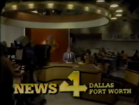 KDFW News 4 Dallas-Fort Worth in-program open - 1980