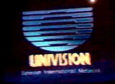 Univision's Spanish International Network Video ID from 1987