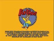 Arthur end credits (2001)