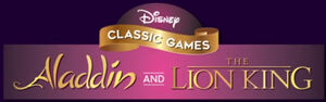 Disney Classic Games Aladdin and The Lion King logo
