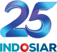Indosiar 25th Anniversary logo Blue with wordmark