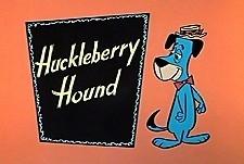 The huckleberry hound show logo