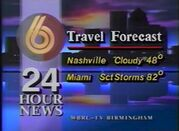 WBRC-TV Channel 6 Travel Forecast 1991
